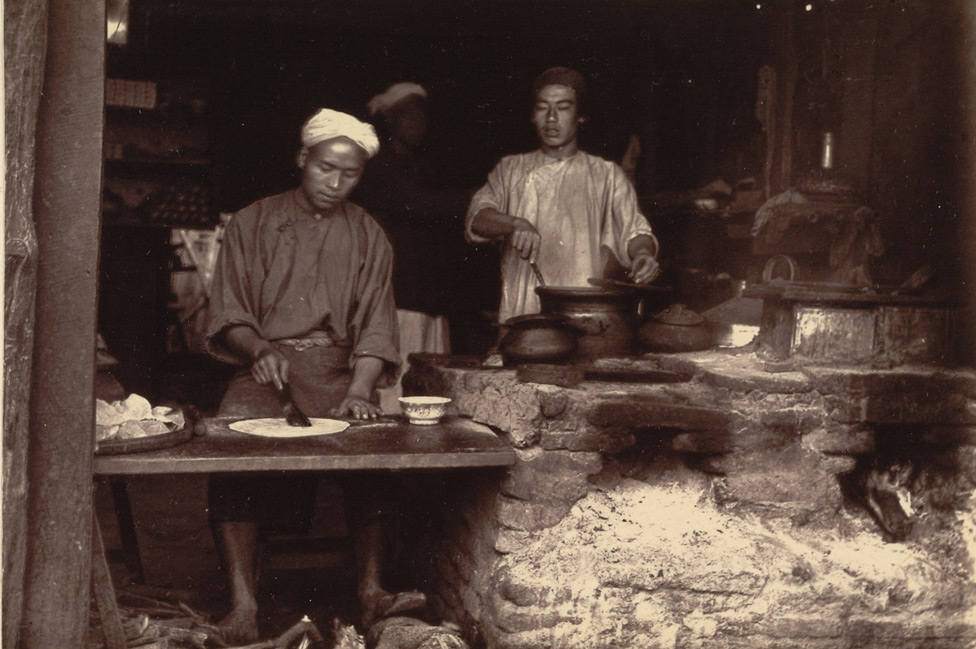 A Baker's Shop in the Chinese quarter of the town. It is not perhaps a very inviting place, nevertheless the bread made in Mandalay is exceedingly good